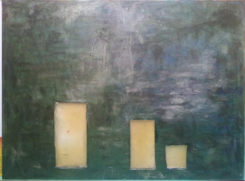 mixed media on canvas, epoxy, 80 x 100, 2015
