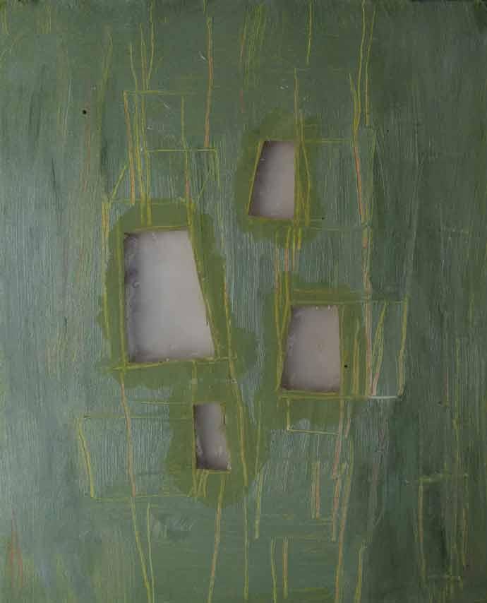 nature, oil, epoxy on canvas, 60 x 40