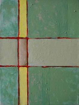 40 x 30, oil, epoxy on canvas, 2015