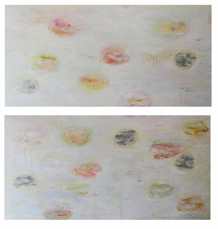 oil, epoxy on canvas, 2 x 50 x 120, 2015