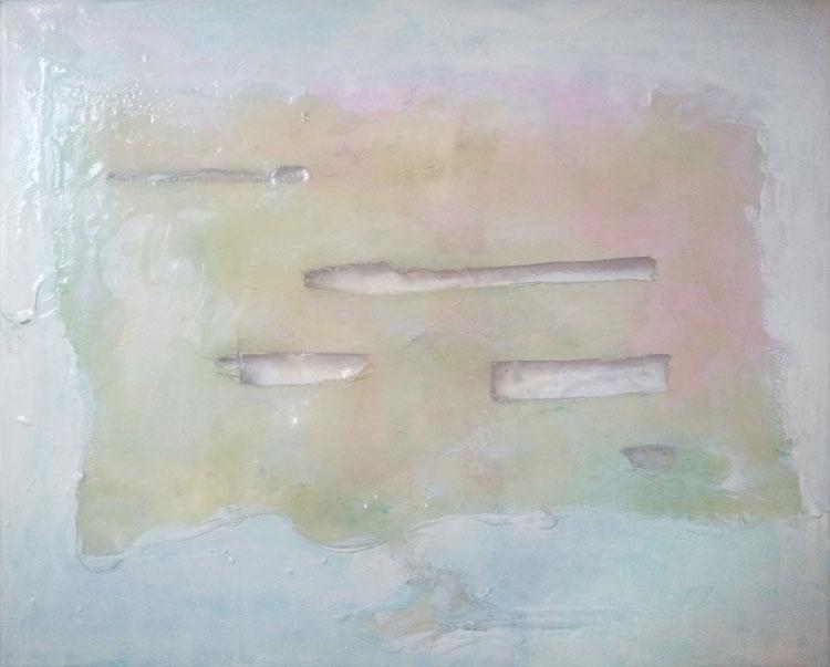 mixed media on canvas, epoxy, 30 x 40,  2015