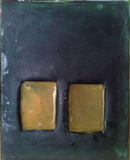mixed media on canvas, resin, 30 x 20, 2015