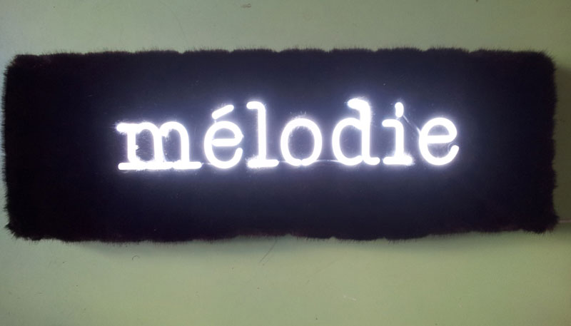 mélodie, neon, fur, 2013