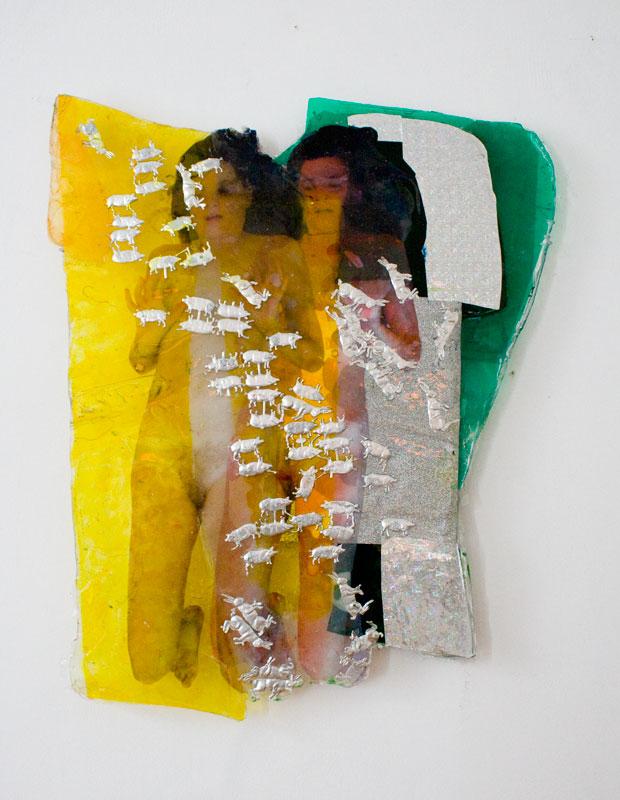 thehareofbeuysmeetstheluckybig, epoxy, collage, 2014
