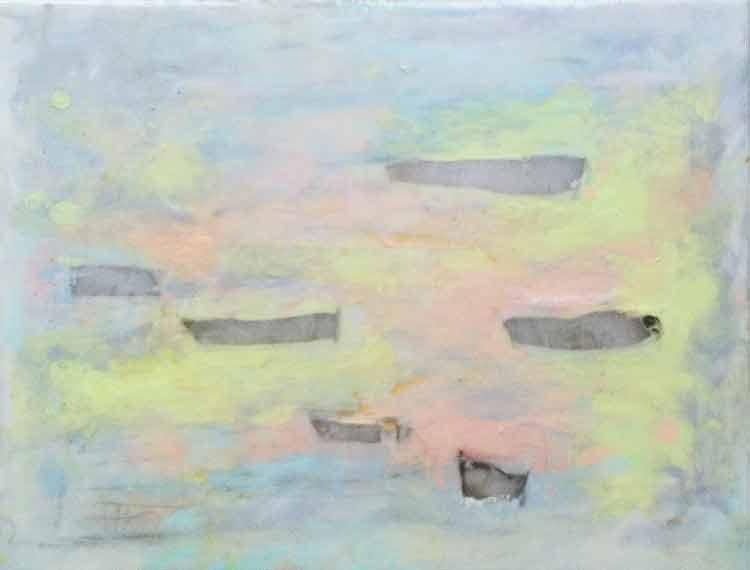 étude-nature I3, oil, epoxy on canvas, 30 x 40