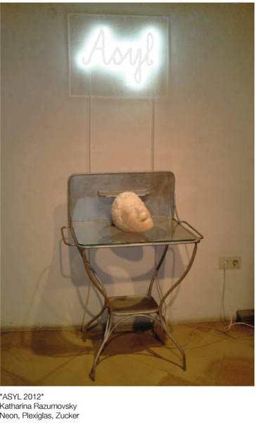 katharina razumovsky, installation asyl,Galerie Julius Hummel, 2013