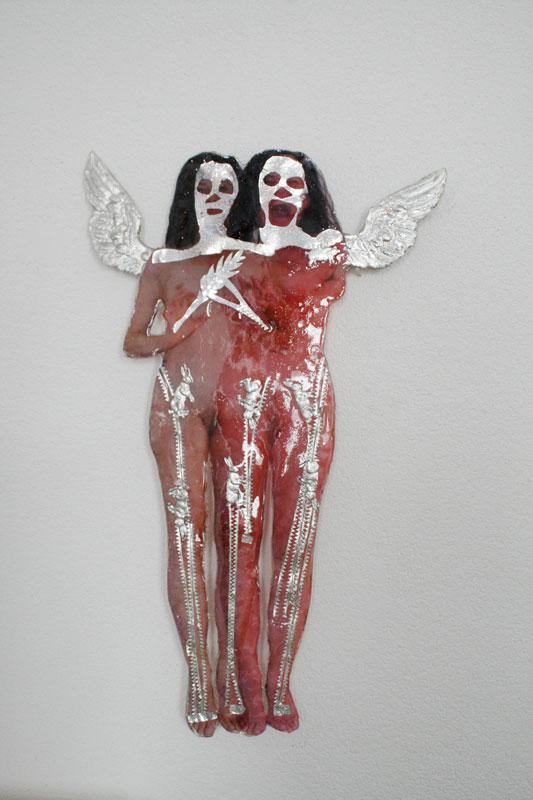 katharina razumovsky, fragile, collage, epoxy, 2014